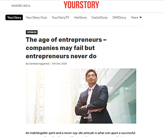 The age of entrepreneurs – companies may fail but entrepreneurs never do